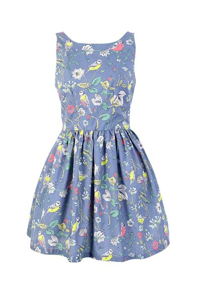 Flowers Birds Cute Retro Sundress. I don't know if I would look cute in it but I love it!