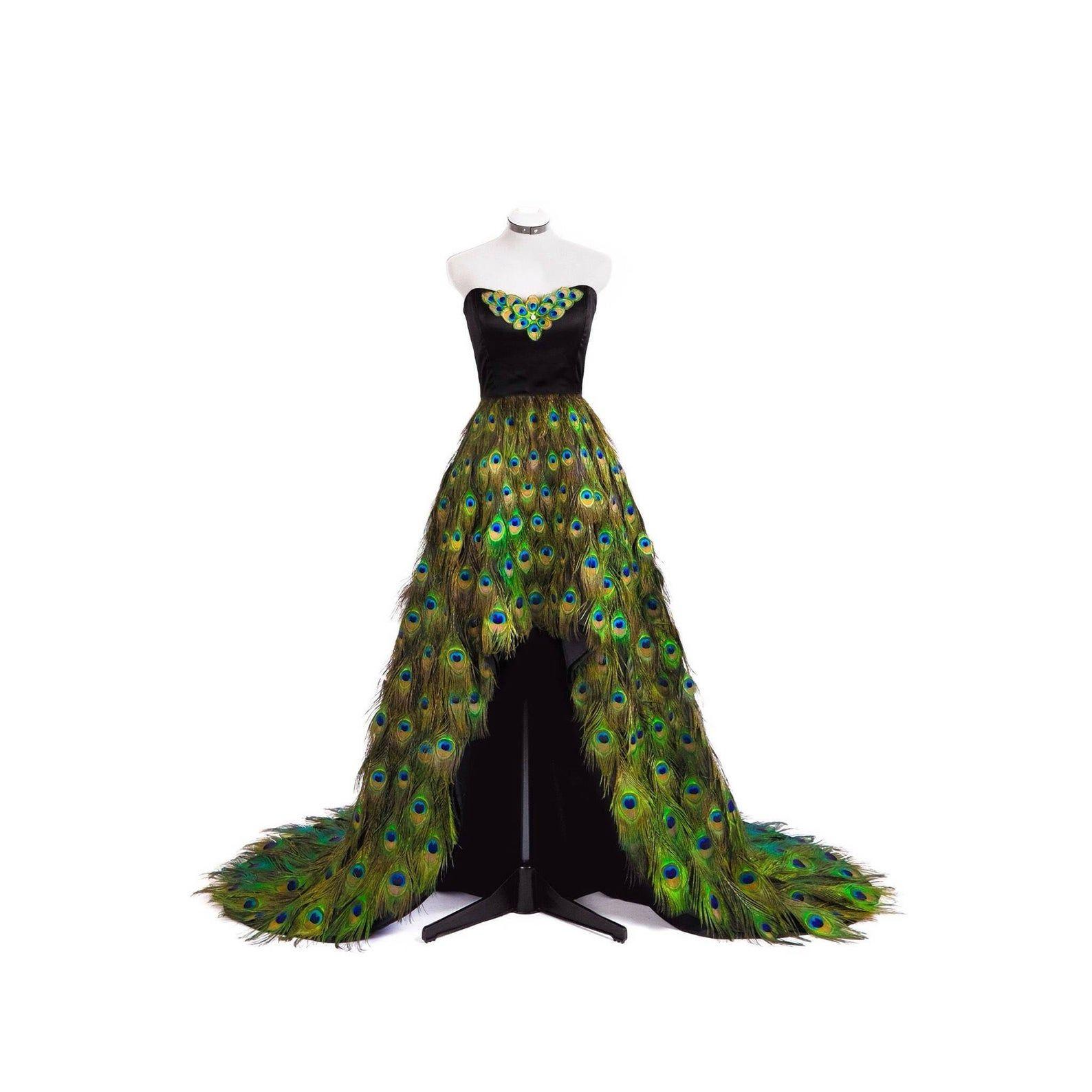 31++ Peacock feather wedding dress ideas