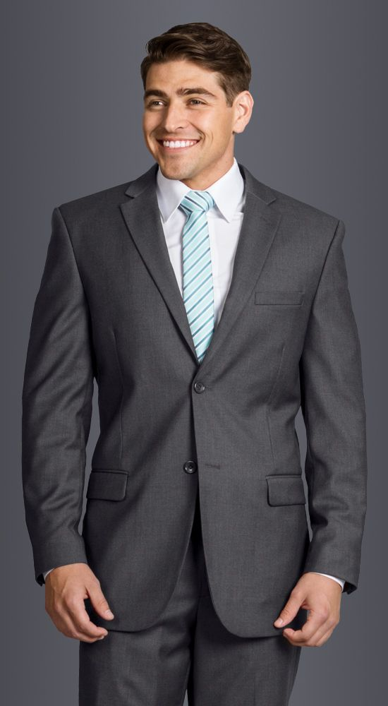 Charcoal Grey Modern Suit available in slim or classic fit. 2 ...