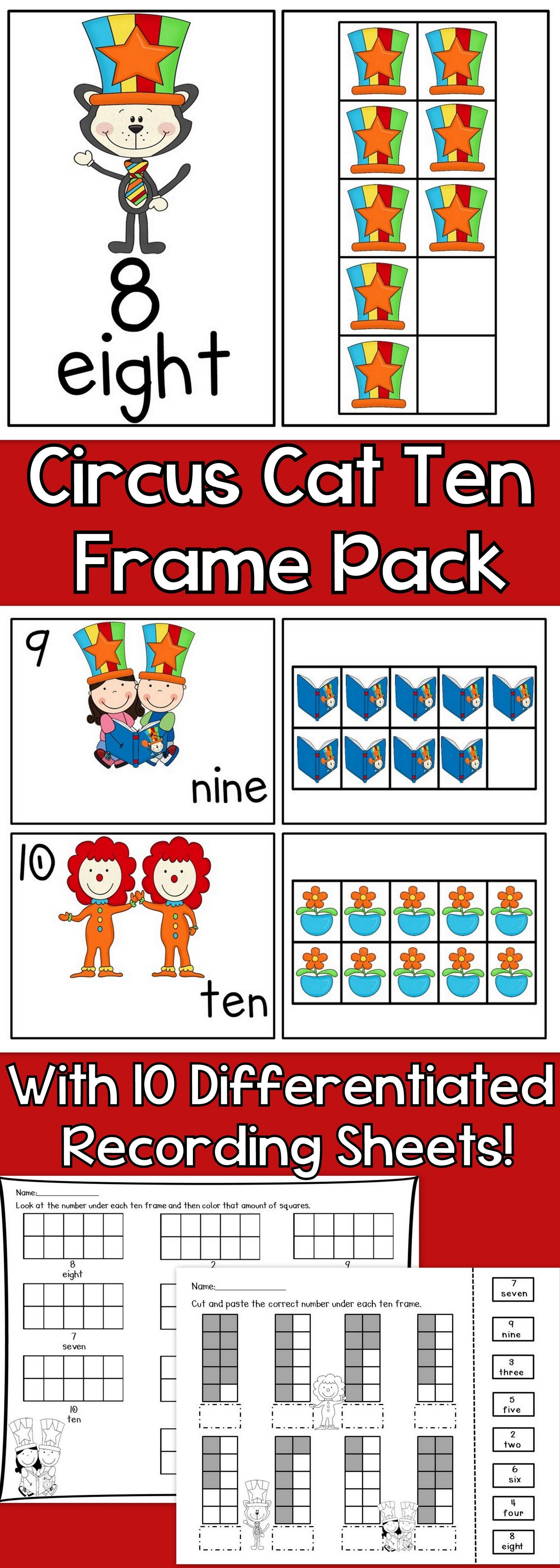 Circus Cat Ten Frames