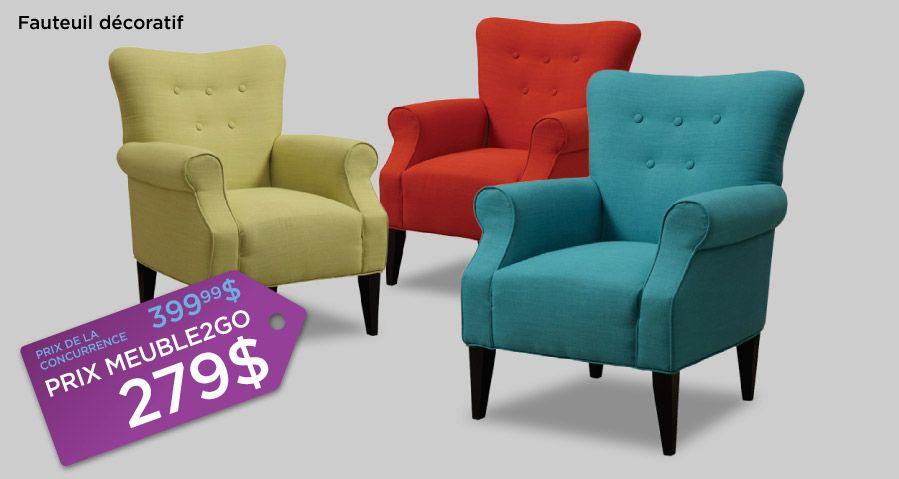 Fauteuil d\'appoint couleur funky et très confortable. 3 choix de ...