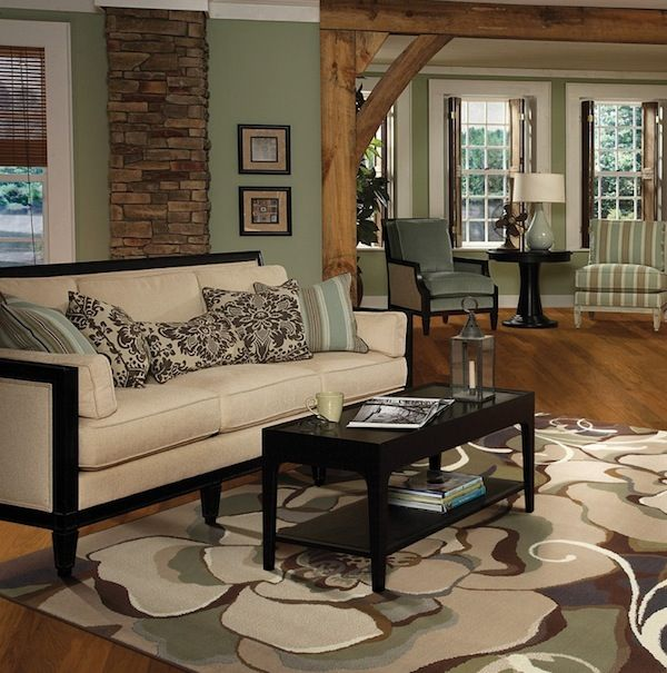 Light or dark wood flooring which one suits your home - Living room with dark wood floors ...