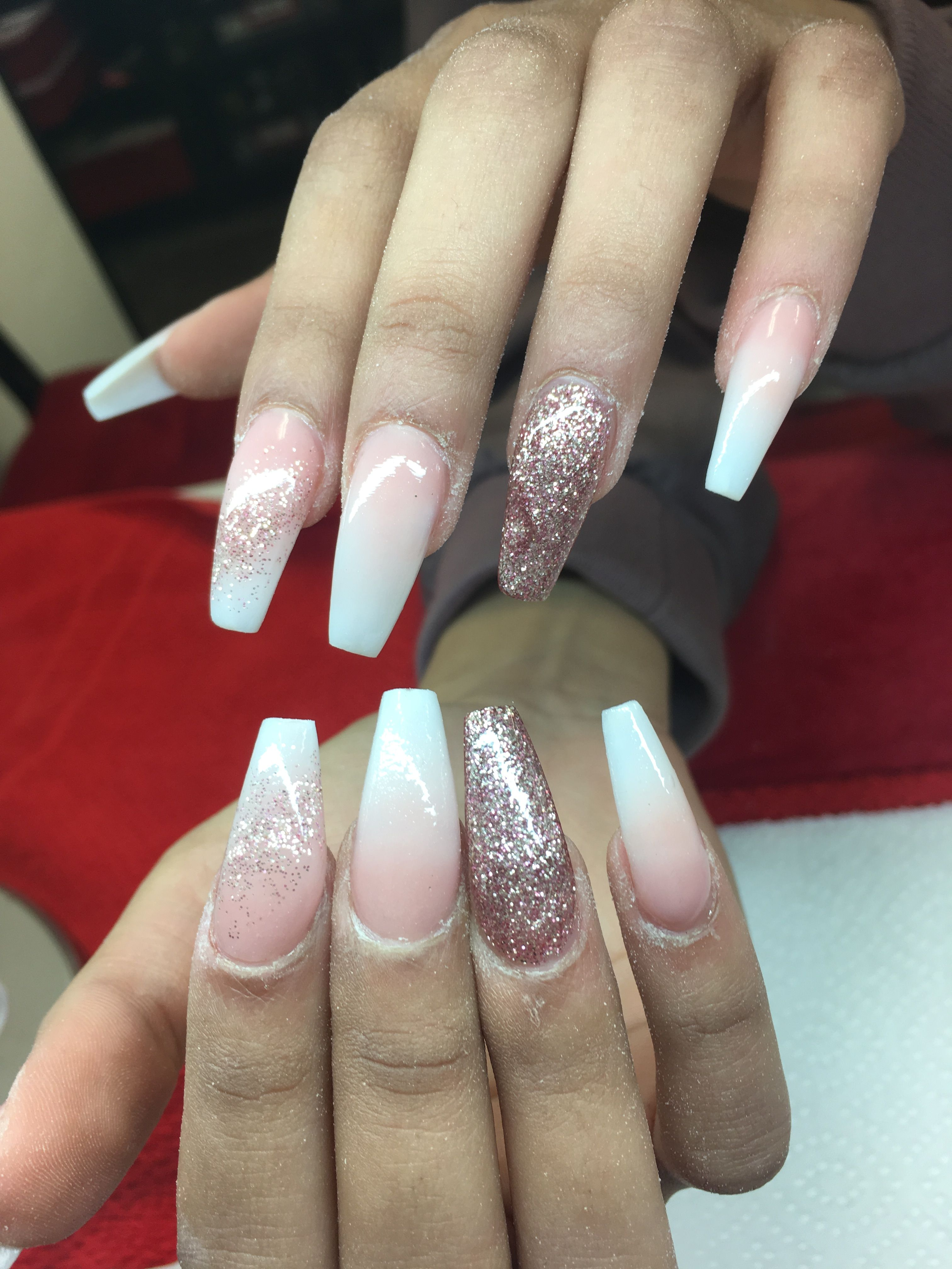 Baby Boomers Baby Bloomer Nails Baby Boomers Nails Glitter Gel Nails
