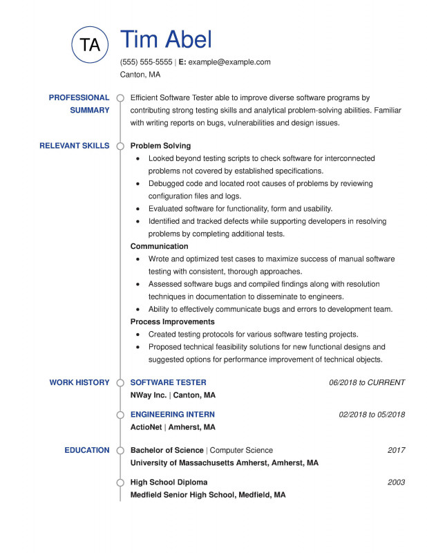 Truck Condition Report Template Unique 30 Resume Examples View By Industry Job Title Best Templates In 2020 Good Resume Examples Job Resume Examples Resume Examples