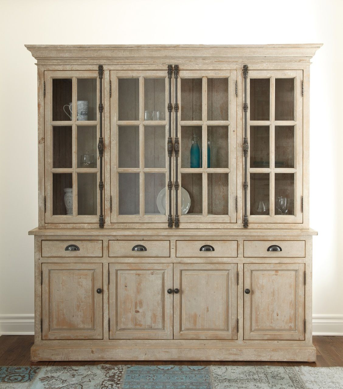 Chateau Hutch Cabinet Antique White Hutch Cabinet Glass French
