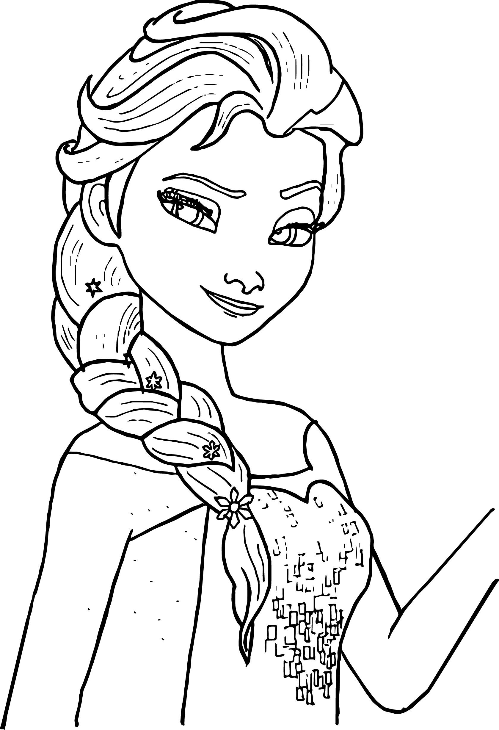 Elsa Black And White Coloring Pages - Coloring pages allow kids to