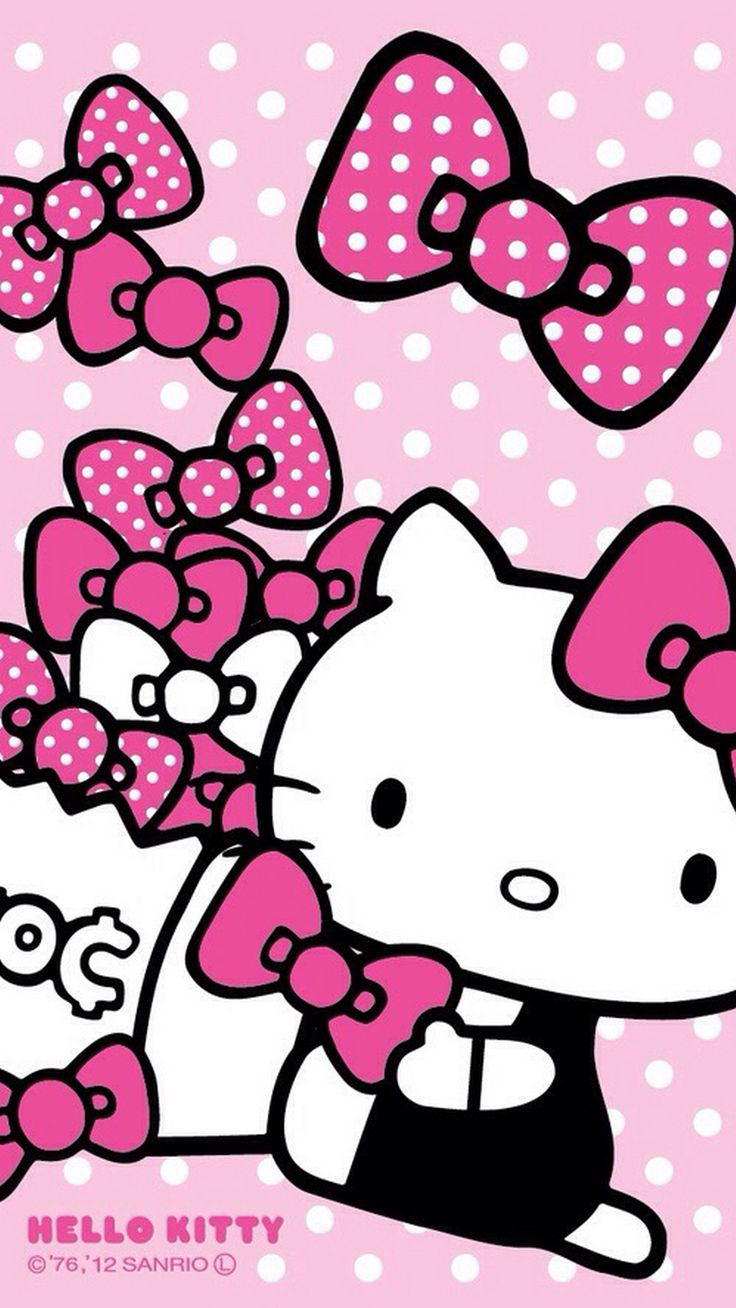 Wallpaper Hello Kitty Warna Pink