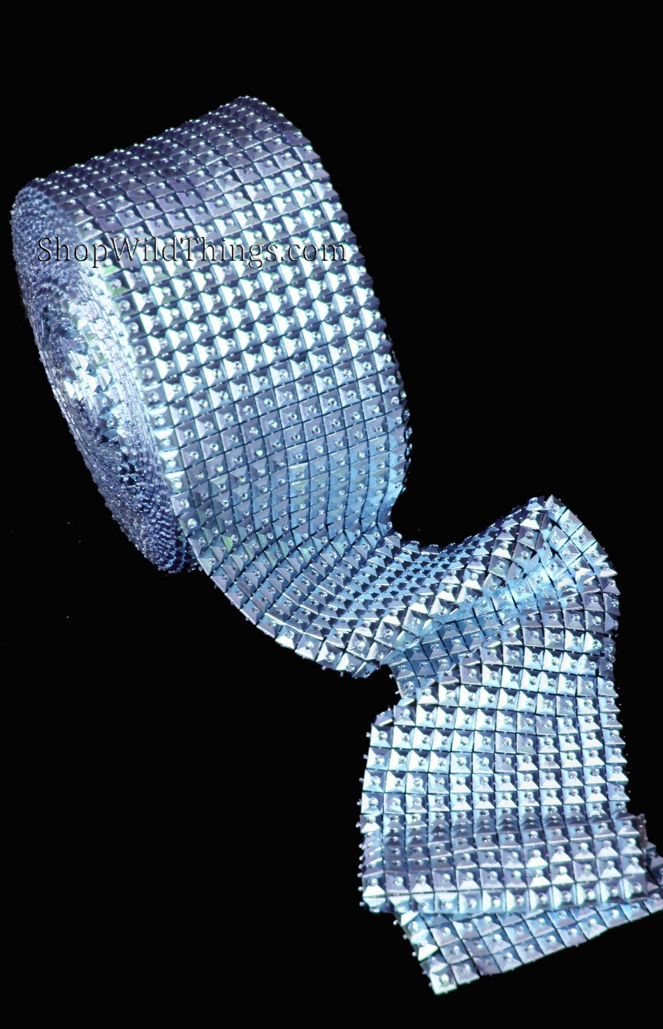 CLEARANCE Squares Diamond Wrap Roll - Blue Metallic - 4\