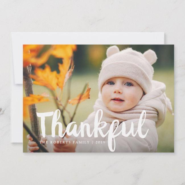 Fun script thanksgiving photo card