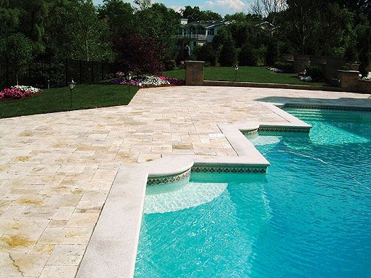 Pool Tile And Coping Ideas search Marbella Pavers With Granite Coping And Tile At Waterline Pool Ideasbackyard
