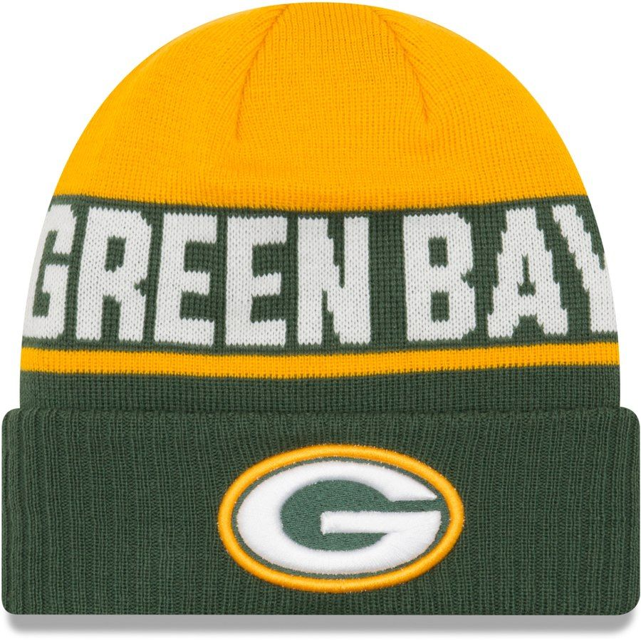 Youth Green Bay Packers New Era Gold Green Chilled Cuffed Knit Hat Your Price 17 99 Packers Hat Green Chill Knitted Hats