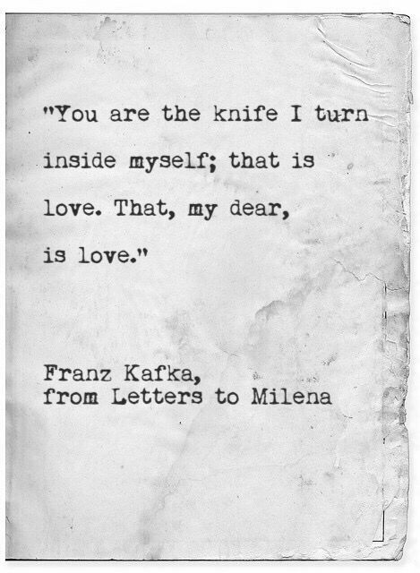 You are the knife i turn inside myself