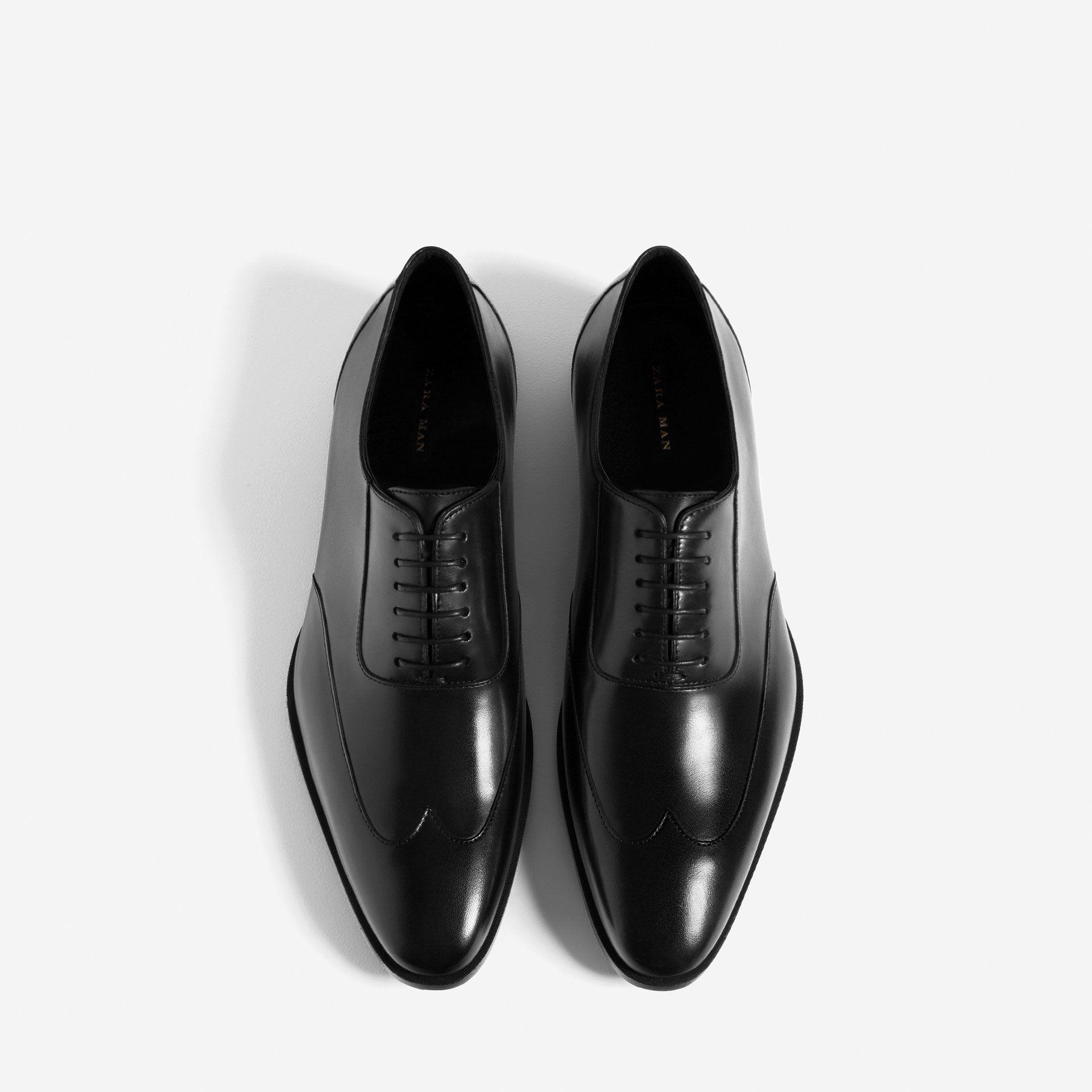 Piel Zapatos Zapato Pala Ecuador Vega HombreZara 8nmwONv0