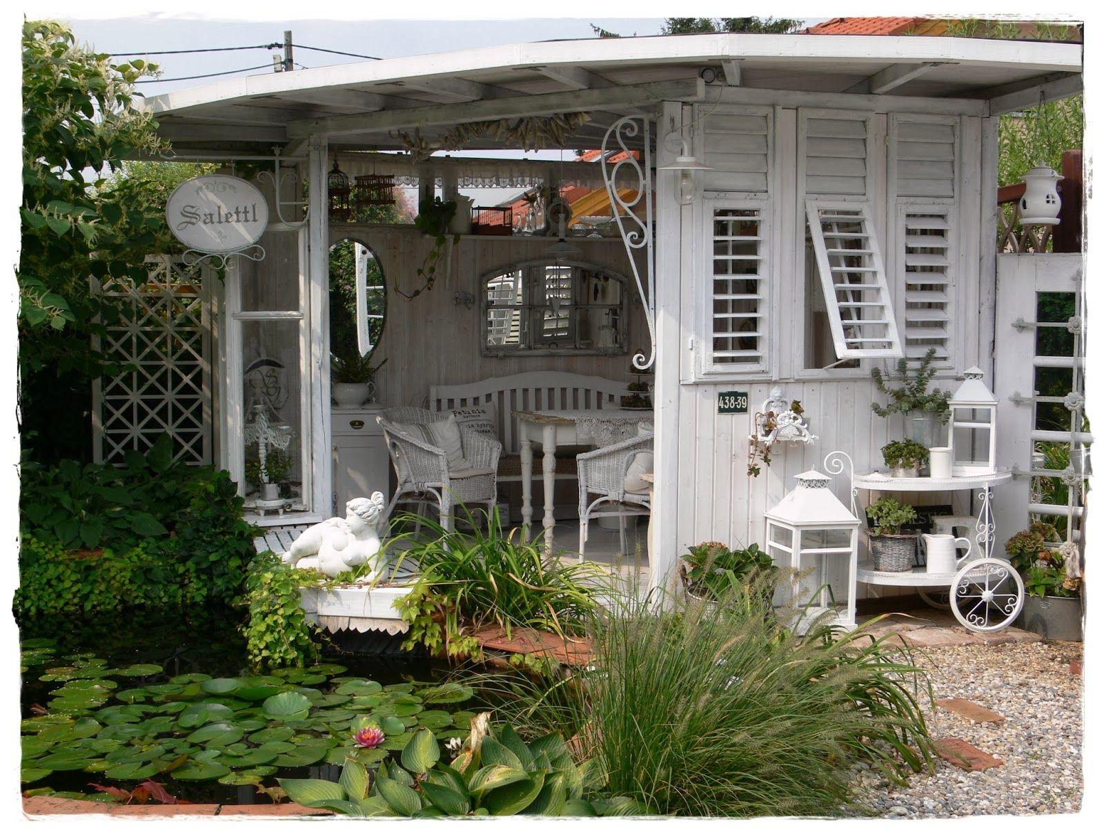 Verzauberkunst Landhaus Style Foto Von Shabby : Vorher-nacher..garten/laube.