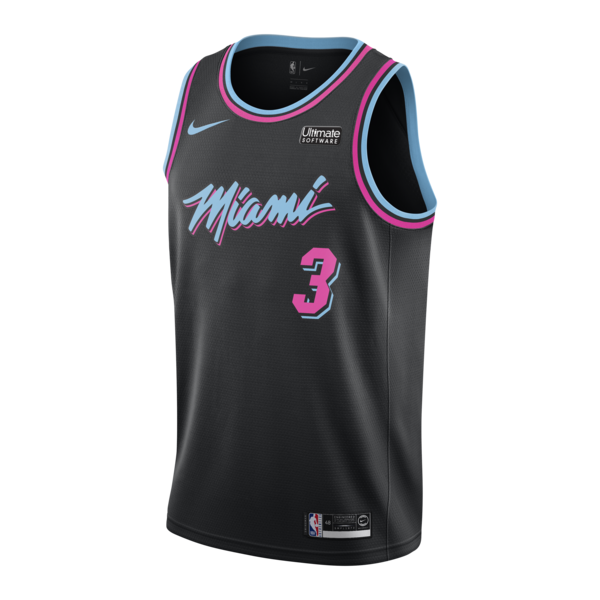 competitive price 365a6 0bffd Dwyane Wade Nike Miami HEAT Vice Nights Swingman Jersey ...