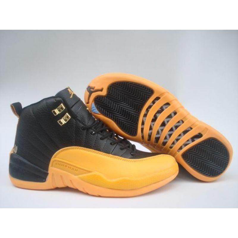 Air Jordan 12 Black Yellow Air Jordans Jordan 12 Black Air