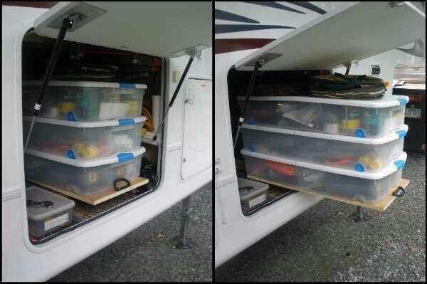 Idée rangement camping   Rangement roulotte, Rangement tente roulotte, Roulotte de camping