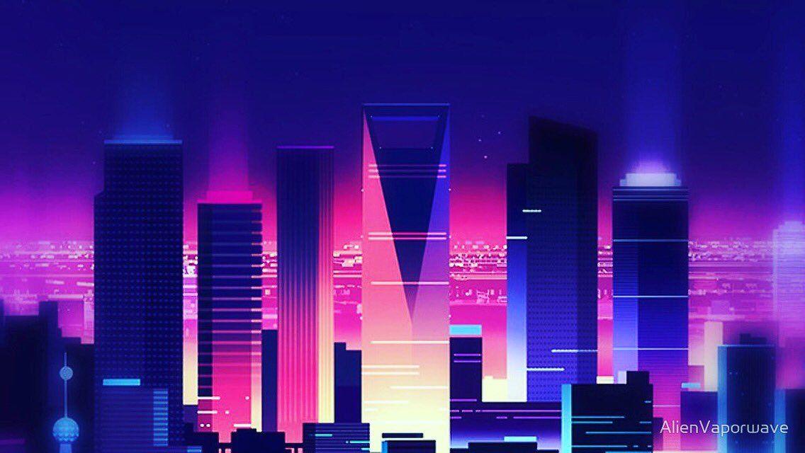Image Result For Vaporwave City Vaporwave Music Wallpaper