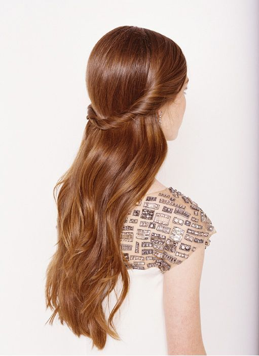 Down Wedding Hair Style For Straight Hair Any Ideas Weddingbee Hair Styles Easy Hairstyles For Long Hair Down Hairstyles