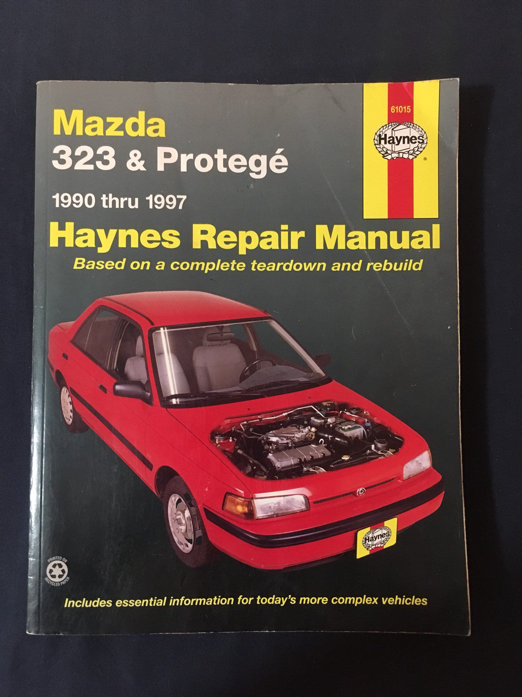 #canadiancollectors Haynes Repair Manual , Mazda 323 and Protege 1990 thru  1997 - 1997 release $33.98