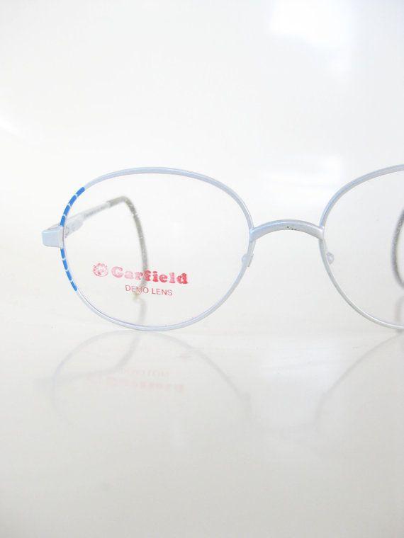 e9f1e8056308 1980s Childrens Glasses Silver Blue Wire Rim Eyeglasses Optical Frames  Deadstock Eighties 80s Rocker Classic Boys Girls Children Frames