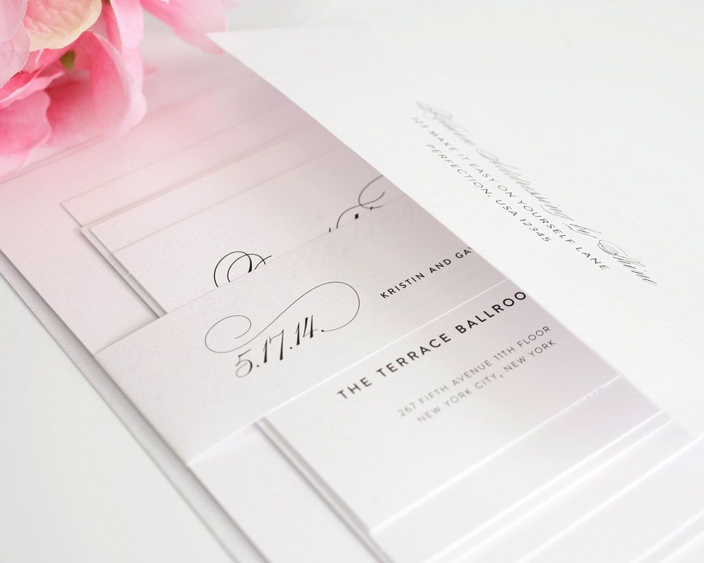 sample wedding invitation letter for uk visa%0A Simple Elegant Script Wedding Invitation by shineinvitations