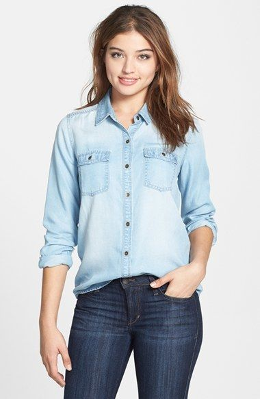 601435e9fed Pin by Lookastic on Denim Shirts in 2019
