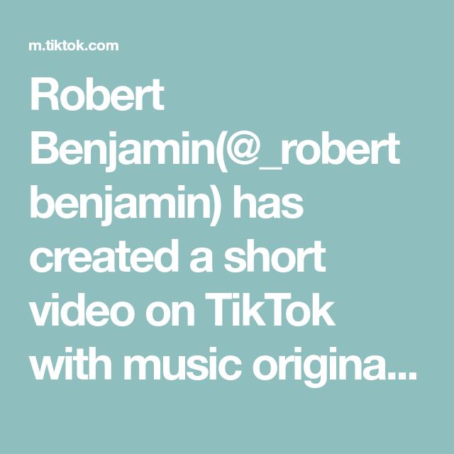 Robert Benjamin Robertbenjamin Has Created A Short Video On Tiktok With Music Original Sound Going Live Soon Make Th In 2020 Vine Memes The Originals Teacher Tech