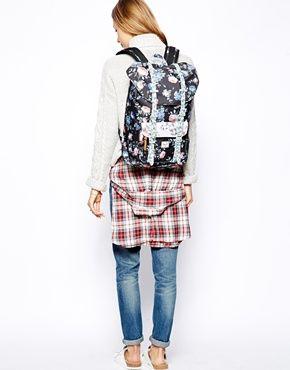 Herschel Little America Mid Backpack in Floral Print