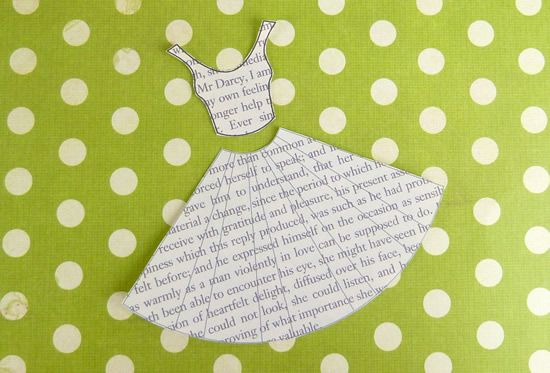 Book Print Dress Card Template Dress Card Cards Birthday Cards For Women