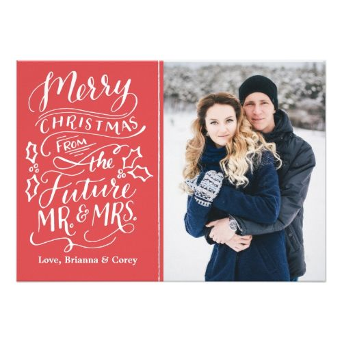 Merry Christmas From The Future Mr And Mrs Photo Holiday Card