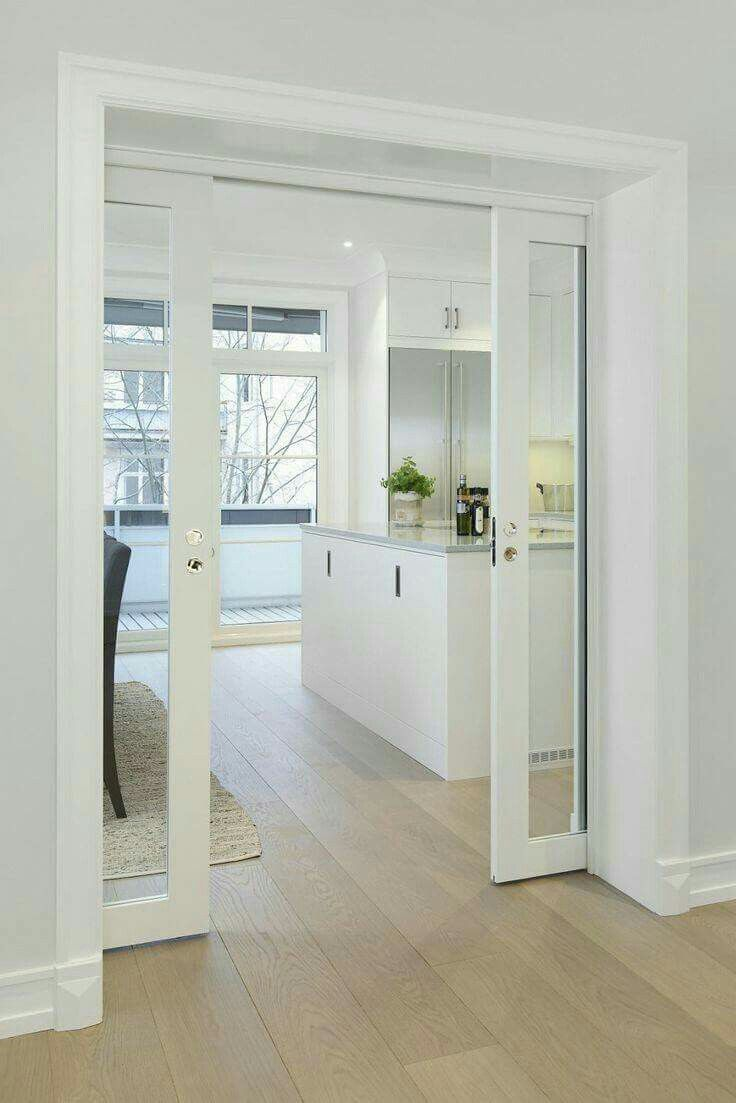 Floor And All White Home Pinterest Doors Kitchens And House