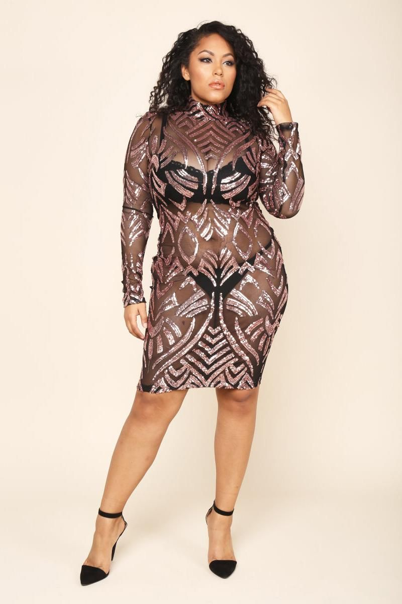 plus size sexy sequin bodycon dress dresses+ gs-love | curve party