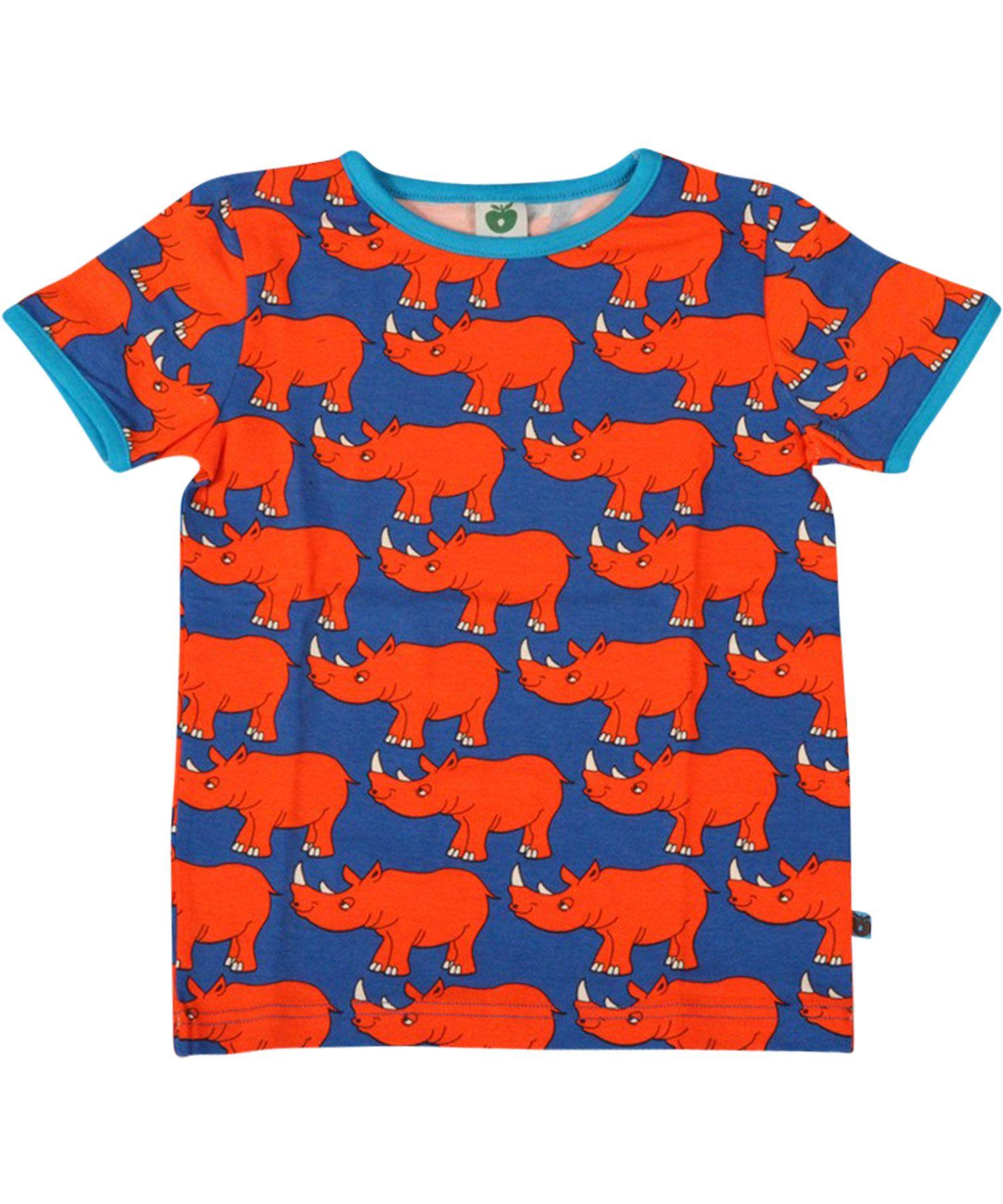 d893f2a4c69980 Småfolk sterke zomer t-shirt met neushoorns. smafolk.nl.emilea.be