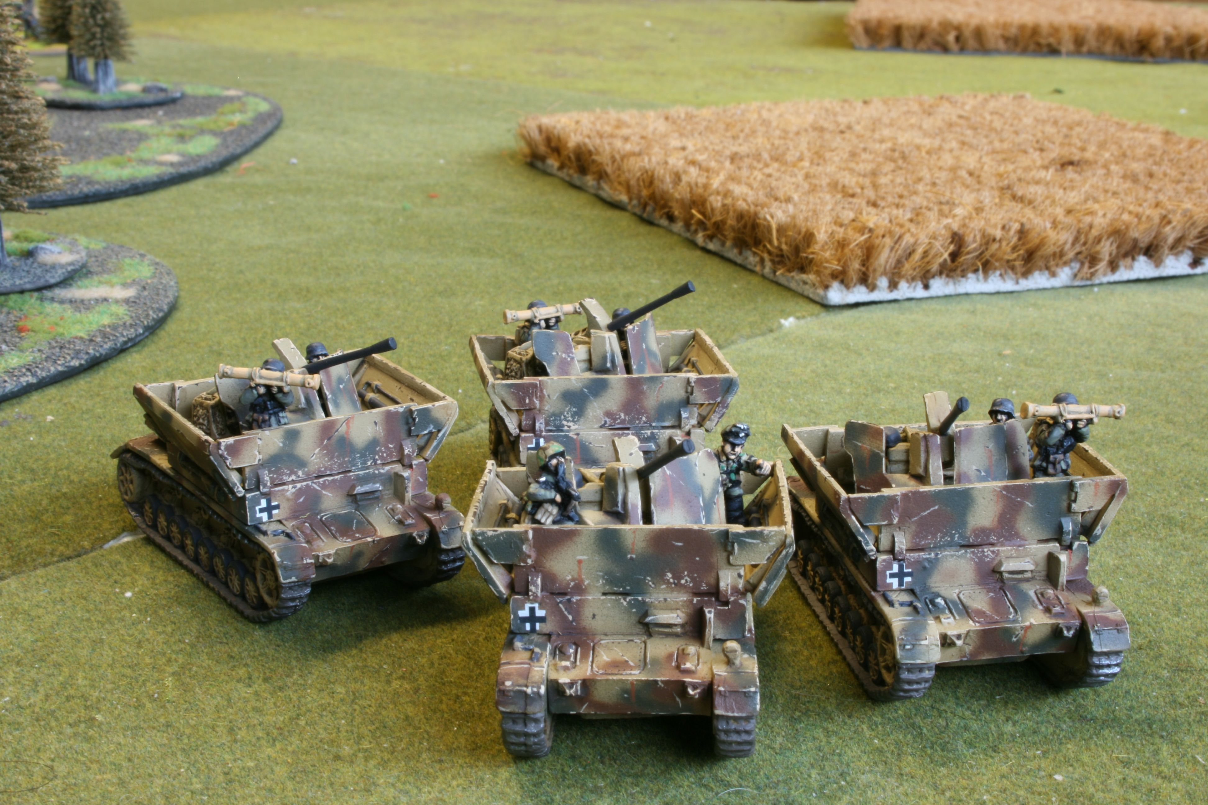 Mobelwagen platoon for Flames of War. Painted by Panzer Schule for Worlds at War.