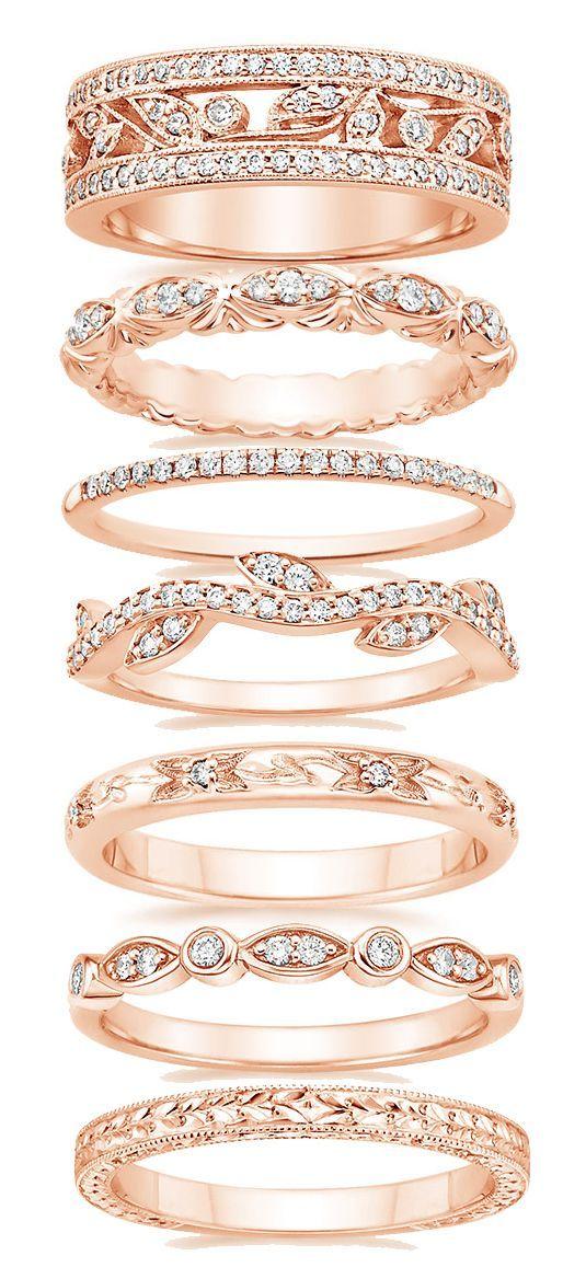 Error Rose Gold Wedding Bands Wedding Rings Gorgeous Wedding Bands