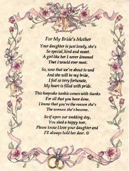 Wedding Poems For Deceased Pas Hankies Weddings Include Poem On Parchment Paper Brides