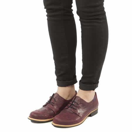 womens red or dead burgundy rosie flats