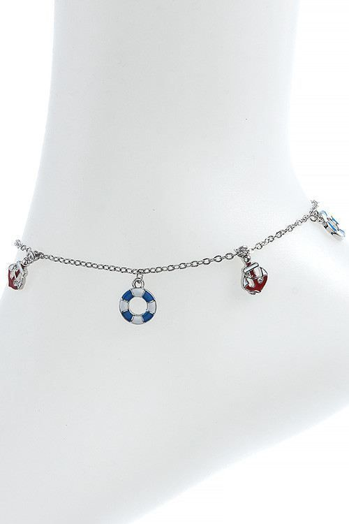 NAUTICAL ANCHOR CHARM ANKLET