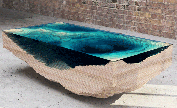 Topographical Tables - Geography as Art - Geolounge