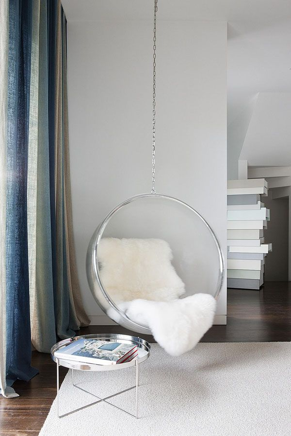 Melbourne Townhouse With Impressive Modern Arrangements Bedroom Hanging Chair Living Room Chairs Bubble Chair
