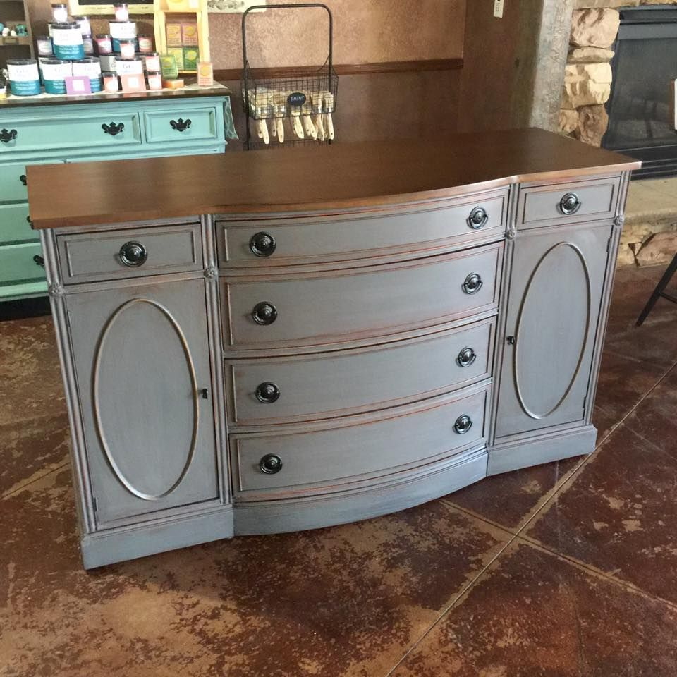 Beautiful Buffet Painted Cece Caldwell S Pittsburg Gray By Revintaged In Colorado Springs Cececaldwells Pittsburghgray