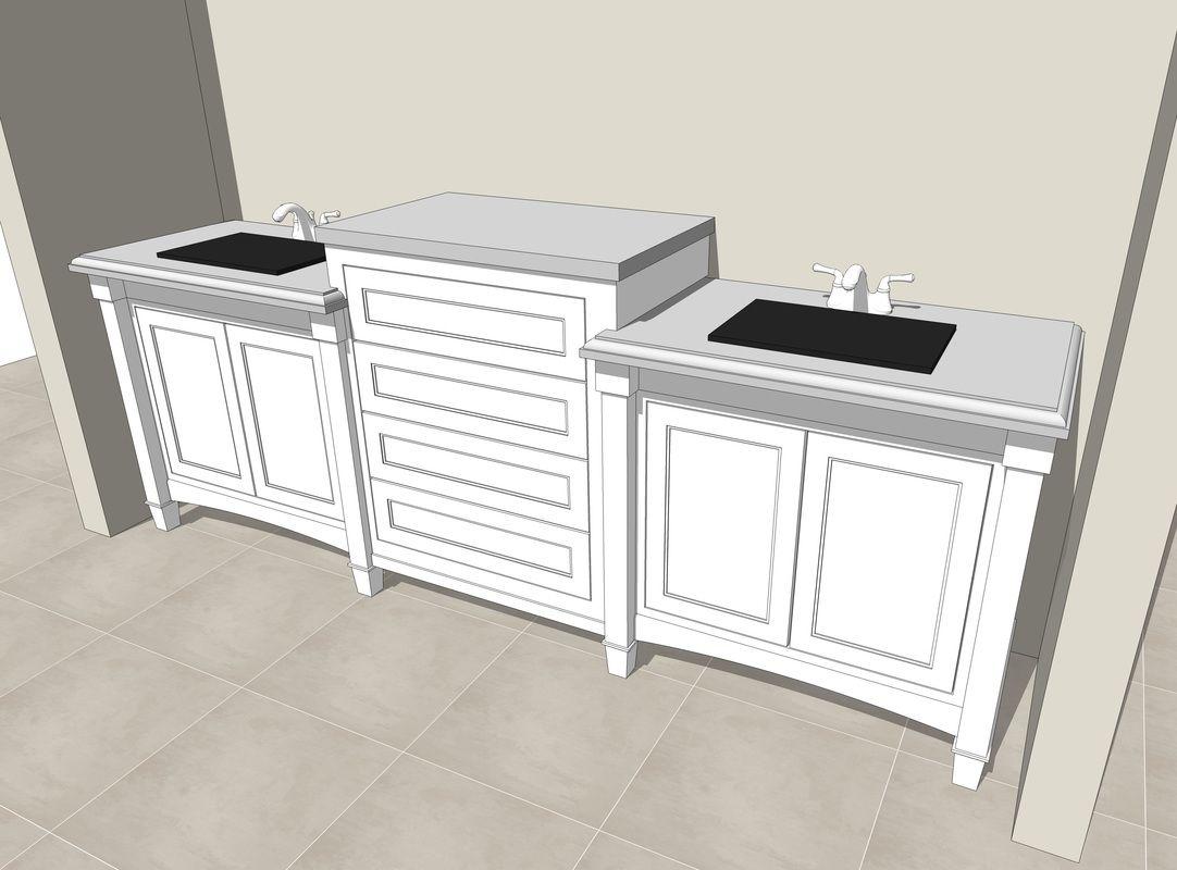 bath sink fixture counter free 3d sketchup model sketchup 3d rh pinterest com