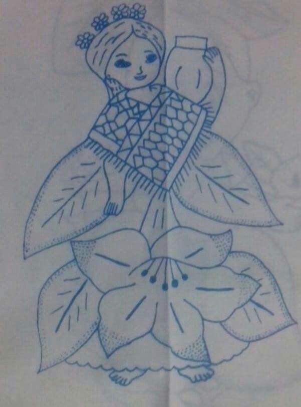 Nia flor  patrones para bordar  Pinterest  Flor Pintura en