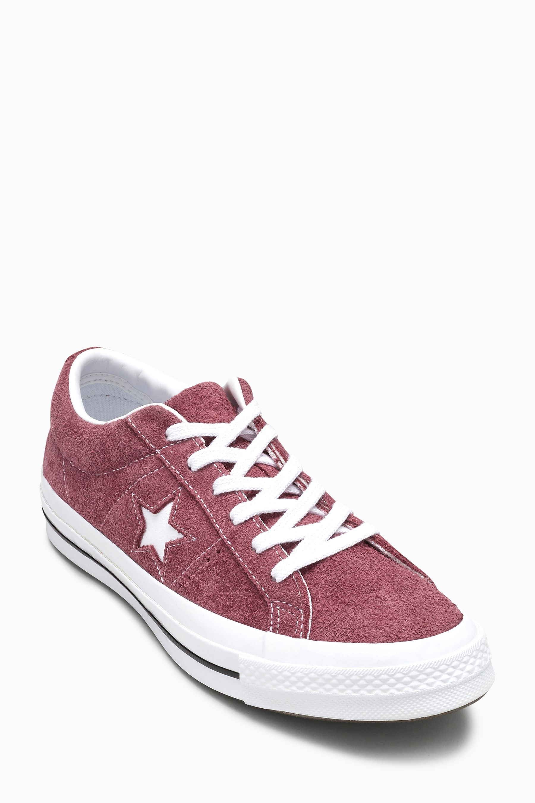 Burgundy Converse Star Player Ox Suede Ii Trainers Online