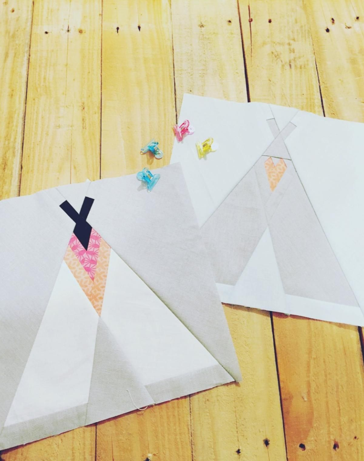 Two Teepee\'s Foundation Paper Piece Pattern FPP | sewing, quilting ...