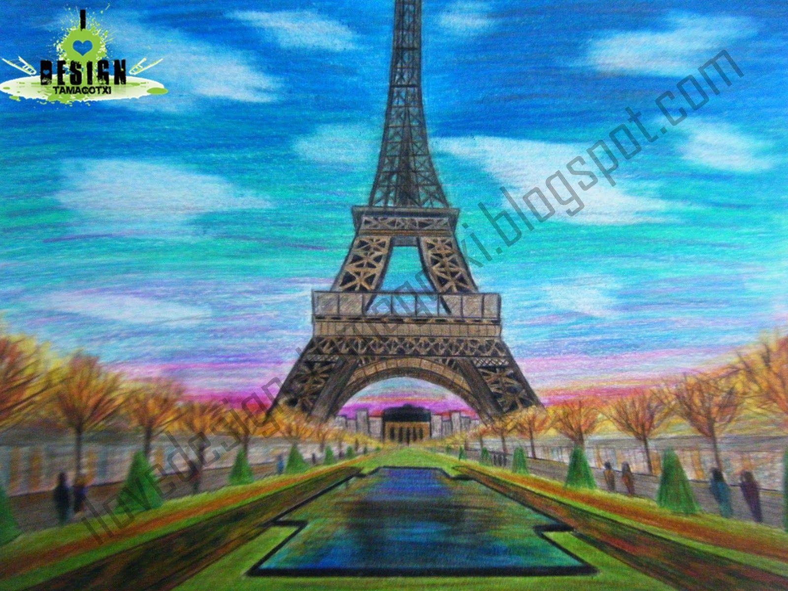 Dibujos A Color De Paisajes Buscar Con Google Art Drawings Tower