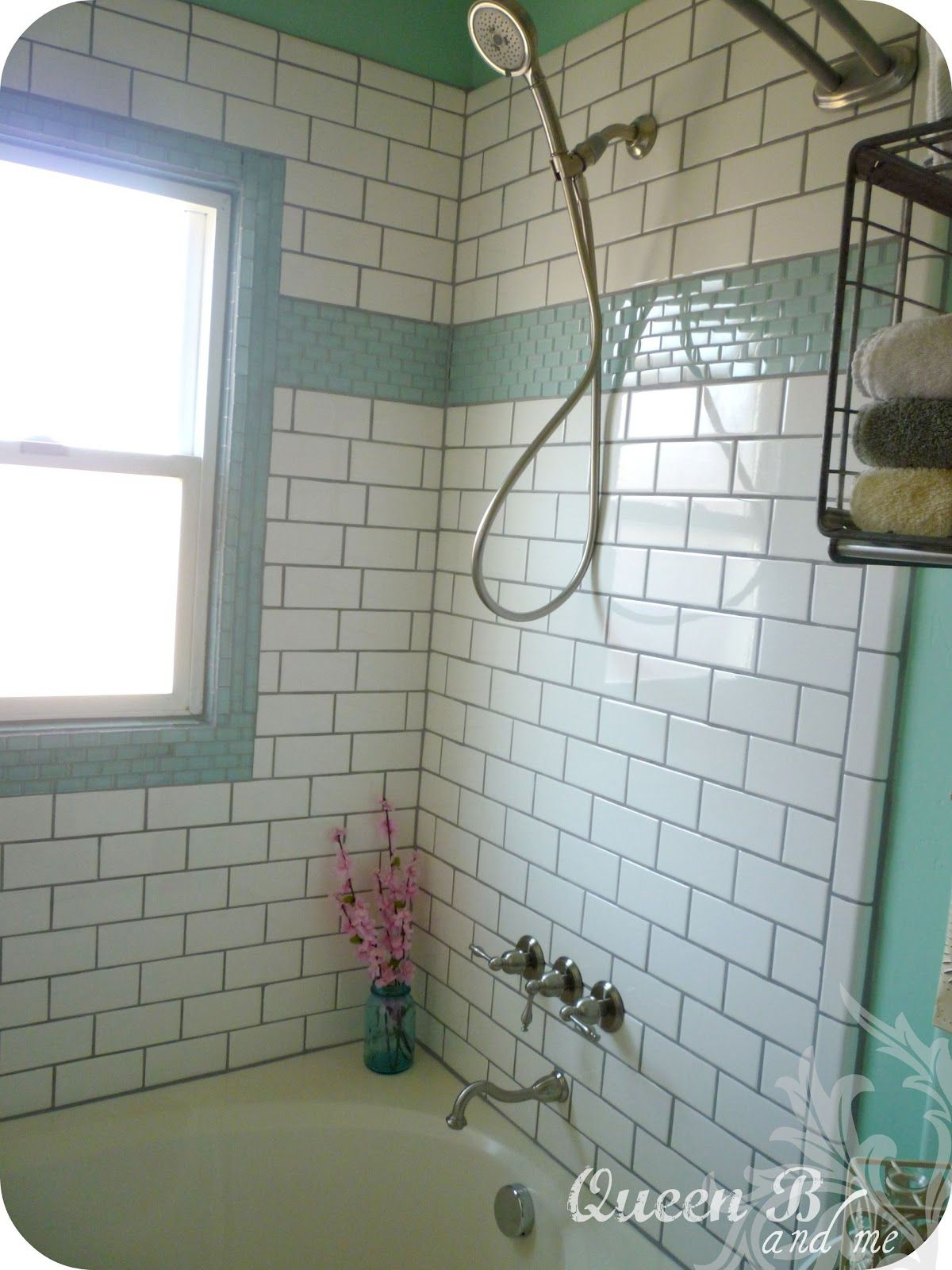 Queen B and Me: Subway Tile DIY {Bathroom Part 2} | Bathrooms ...