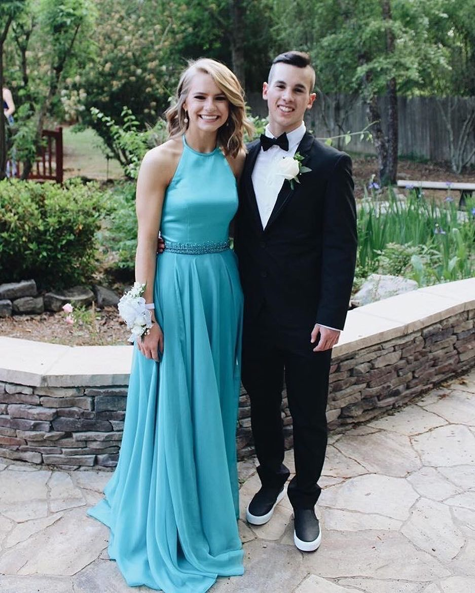 Emily look beautiful in her prom dress from Bella\'s! Looking forward ...