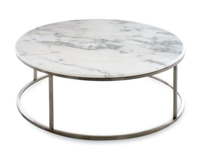 Cb2 Round Marble Coffee Table Not Sure It Will Go With My Place But Thinking